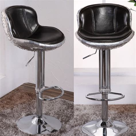 Real Leather Bar Stool Vintage Aviation Genuine Leather Bar Stool View Genuine Leather Bar Stool Defaico Product