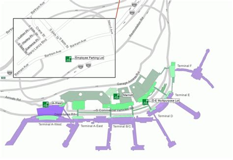 phl airport map bicycle access parking