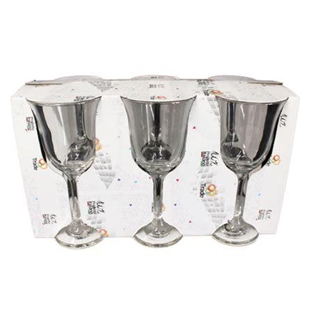 bicchieri flute vetro set di bicchieri calici elegance 6 pz acqua flute