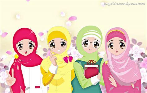 wallpaper cartoon muslimah pin kartun muslimah collection cartoon ajilbabcom portal