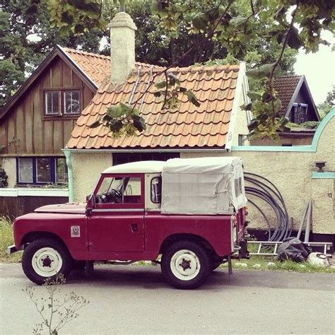 caf礙 cast land rover 88 serie ii soft top canvas road runner
