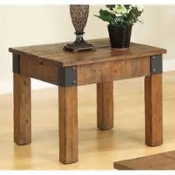 Country Style End Tables Rustic End Table Wood Country Cottage Style Distressed
