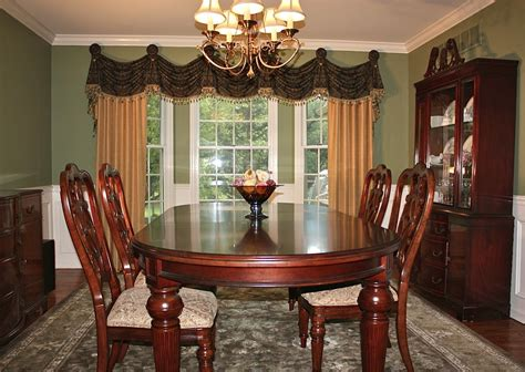 dining room drapery ideas bay window curtain ideas dining room traditional with bay