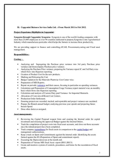 Cma Resume by Arif Mohammed Icwa Cma Resume