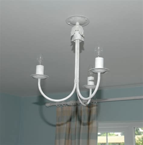 the hinckley 3 arm wrought iron candle ceiling light