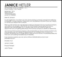 therapy termination letter termination letters livecareer