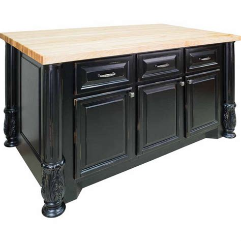Jeffrey Kitchen Island Jeffrey Milanese Kitchen Island With Maple