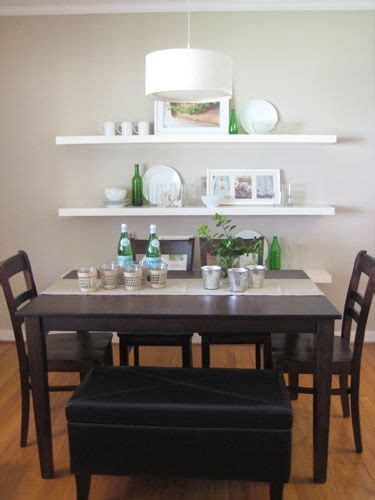 dining room wall shelves switch up your dining room seating by adding a padded