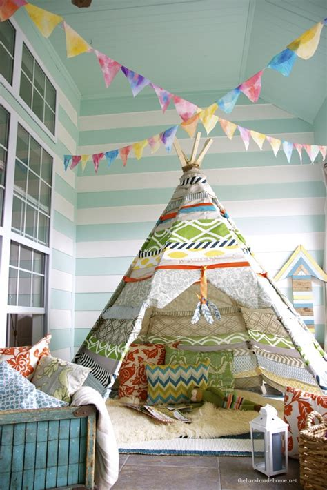 The Handmade Home - no sew teepee the handmade home fabrics the handmade home