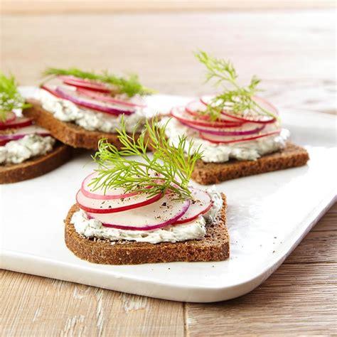 radish tea sandwiches recipe dishmaps