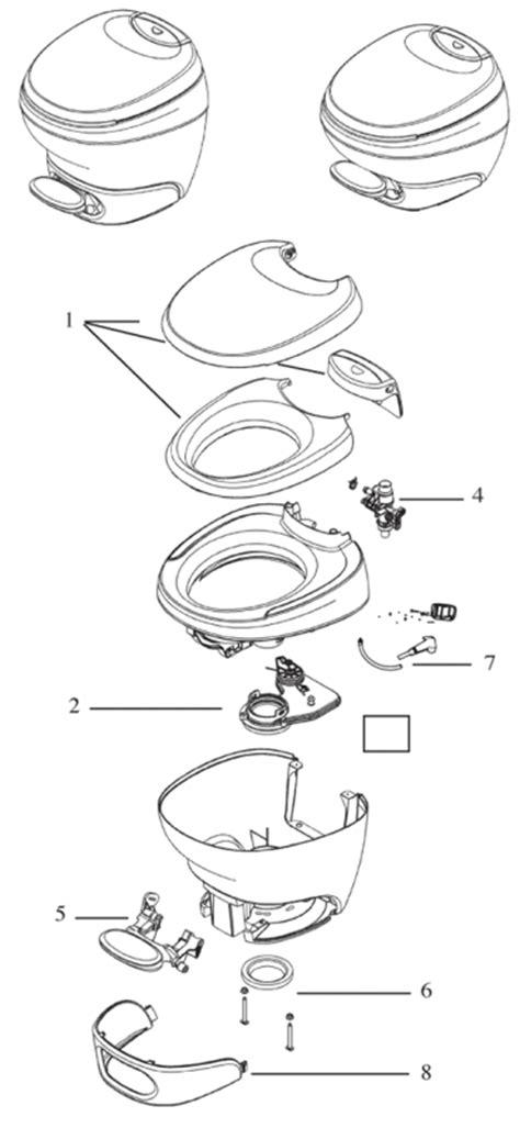 rv bathroom parts vacuflush toilet parts diagram dometic rv toilet parts