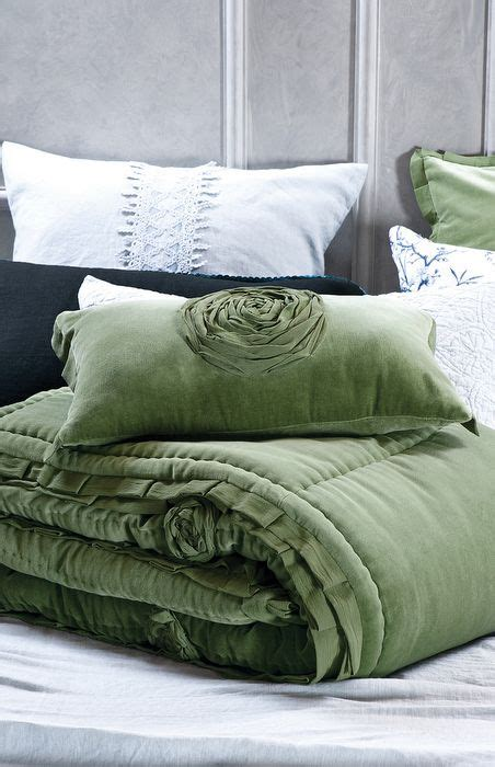 forest green bedding rich forest green velvet comforter and cushion also