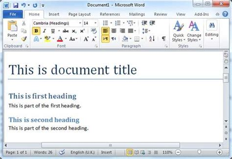 tutorialspoint toc create table of contents in word 2010