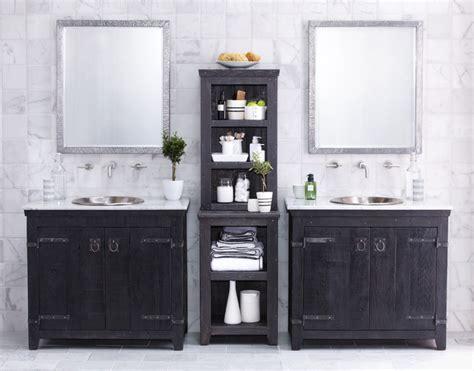 Bathroom With Two Separate Vanities by Tiles Plus
