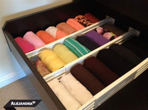 how to organize dresser drawers fold