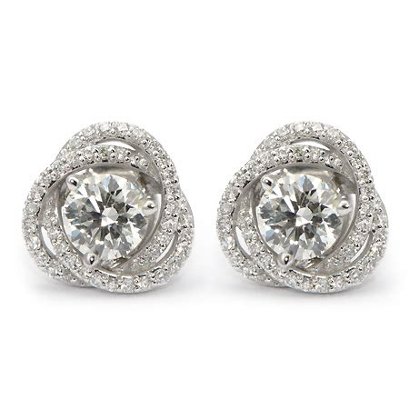 stud earring jackets spiral pave wixon jewelers