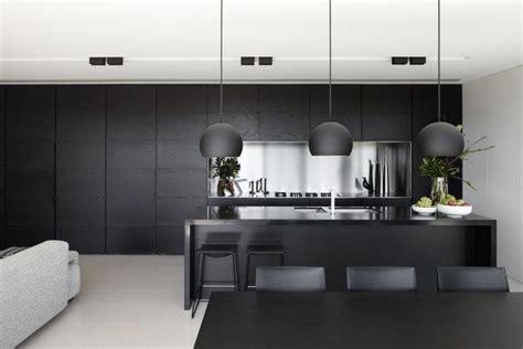 black kitchen bench black kitchen stainless steel bench top and splashback black stained timber veneer
