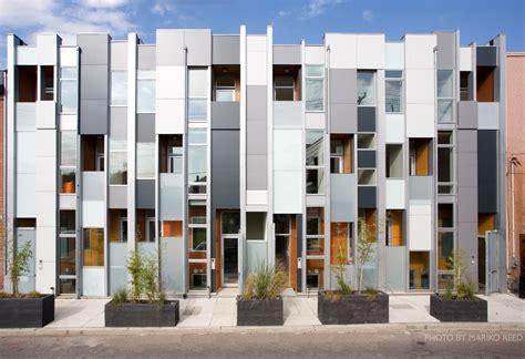 modern row houses for philadelphia s leed platinum urban infill project