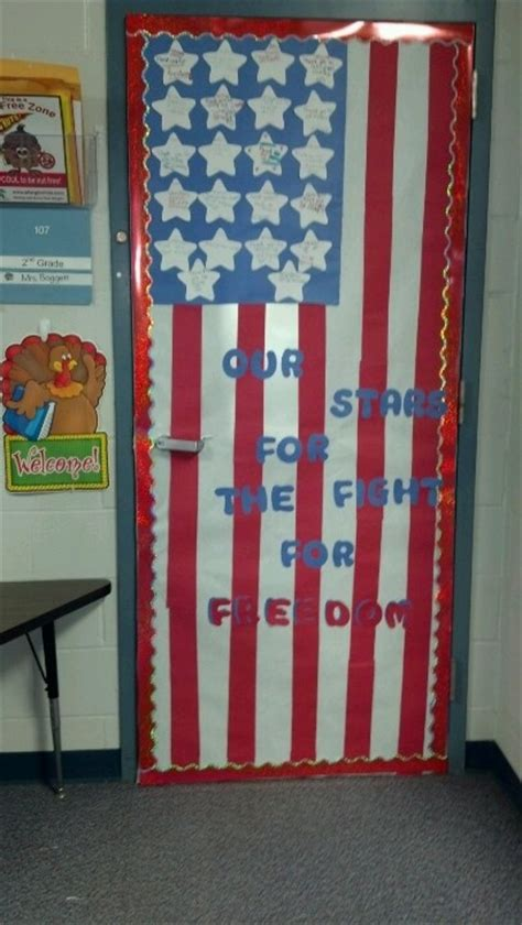 Veterans Day Decoration Ideas by Veterans Day Decorated Door 4th Of July And Other Patriotic Holiday