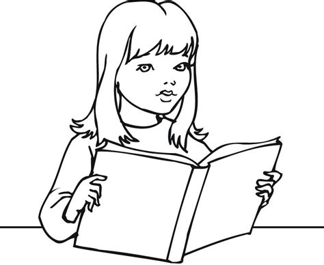 reading coloring pages printable reading book coloring pages for girls and kids coloring