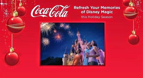 Disney Com Magical World Sweepstakes - coca cola holiday getaway sweeps sweepstakesbible