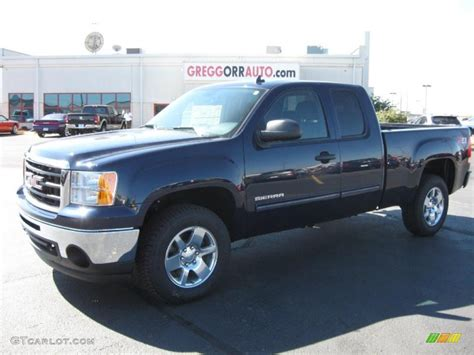 2011 gmc 4x4 2011 midnight blue metallic gmc 1500 sle extended