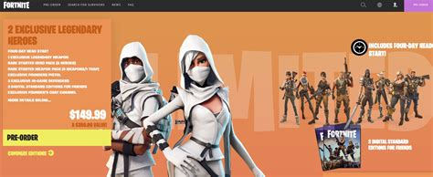 fortnite editions fortnite 70 discount fortnite limited edition pack
