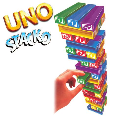 Uno Stacko Boardgame axe your friends to play toc toc the gaming