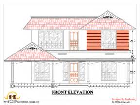 home design engineer 2d house plan sloping squared roof kerala home design and floor plans