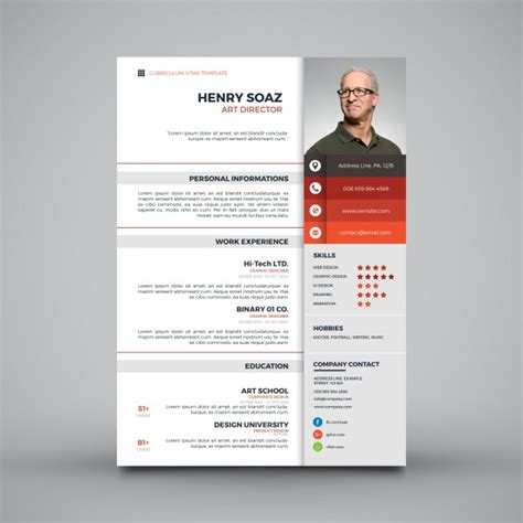 Plantilla De Curriculum Vitae Simple Moderna Plantilla Simple Para Curr 237 Culum Descargar Vectores Gratis