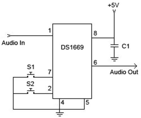 variable resistor digital stereo digital volume schematic design