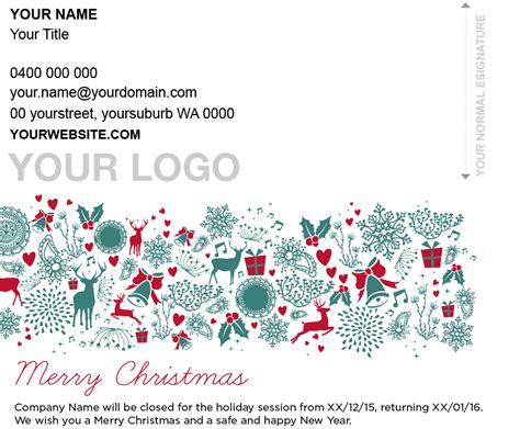 christmas decorations for email signatures lgn events