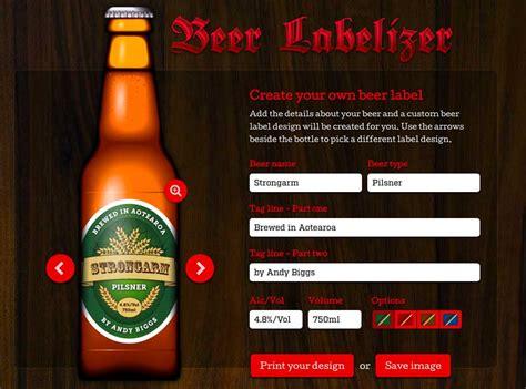 beer bottle labels custom designs beer labelizer