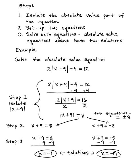 printable worksheets absolute value equations algebra 2 solving absolute value equations answers