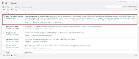 blogger plugin all in one blogger importer wordpress plugin full