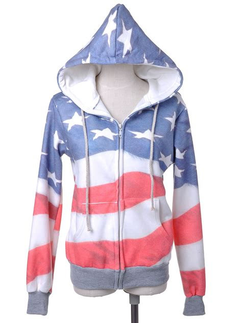 Jaket Ziper Hodie Bolak Balik Parka Pink Blue Turkis white and blue american flag zip up fashion hoodie jacket size s l ebay