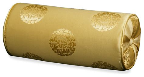 silk neck pillow longevity gold decorative