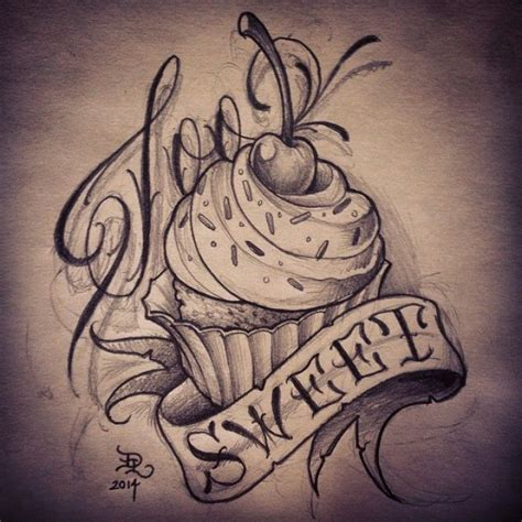 cupcake tattoo design best 20 cupcake tattoos ideas on