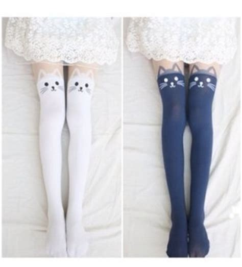 White Calsedoni Cat Eye cut uk tights for gift new fall 2013 cat