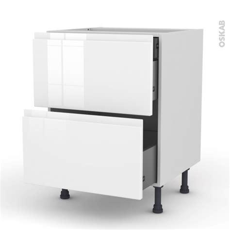 meuble de cuisine blanc brillant meuble de cuisine casserolier ipoma blanc brillant 2