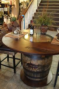 Barrel Kitchen Table Whisky Barrel Table Beautifully Handcrafted Stonebarnfurnishings Whiskey Barrels