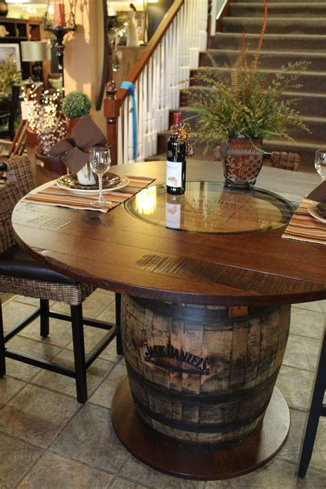 whiskey barrel tables whisky barrel table beautifully handcrafted