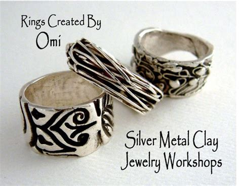 how to make metal clay jewelry silver metal clay rings jewelry 101