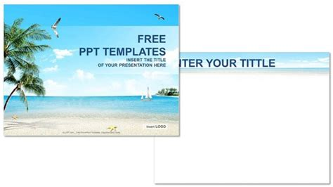 Beach Nature Powerpoint Templates Download Free Vacation Powerpoint Presentation Templates