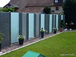 garten gabionen 220 ber 1 000 ideen zu sichtschutz aus glas auf