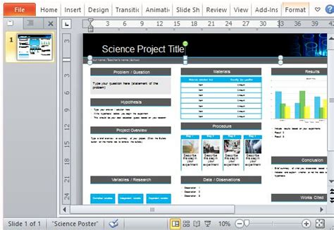 powerpoint templates for scientific presentations science poster project template for powerpoint