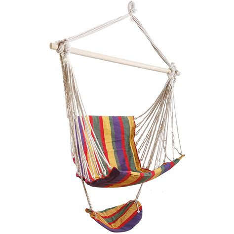wooden hammock swing garden swing seat footrest wooden hanging tree chair