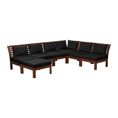 6 Seat Sectional 196 Pplar 214 H 197 Ll 214 6 Seat Sectional Stool Outdoor Brown
