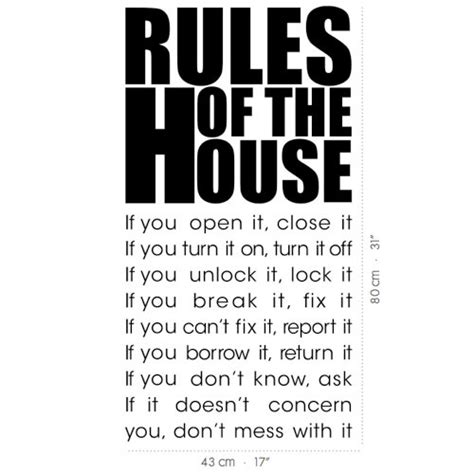 house rules home design wall decal house rules vinyl wall stickers