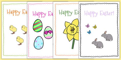 easter card templates ks2 easter card templates a5 easter topic easter happy